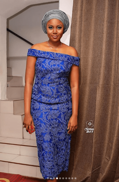 yvonne nelson dress to becca wedding