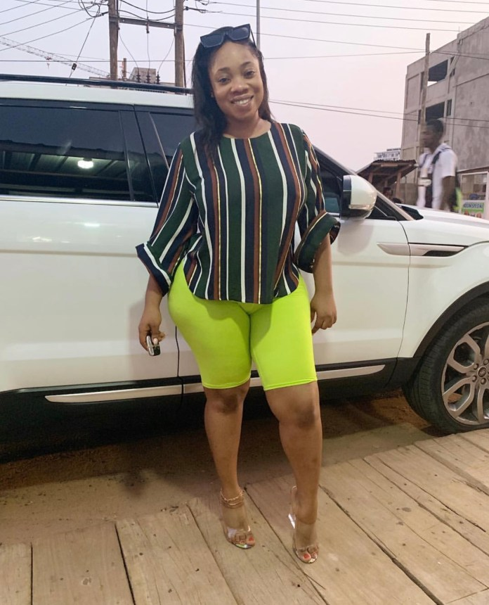 C03F20B5 3A69 480D 9C95 72CE5D80882F - Oh Lorrd!! Moesha Buduong Puts Her Huge 'Akosua Kuma' On Display And Everyone Is Going Nuts About It