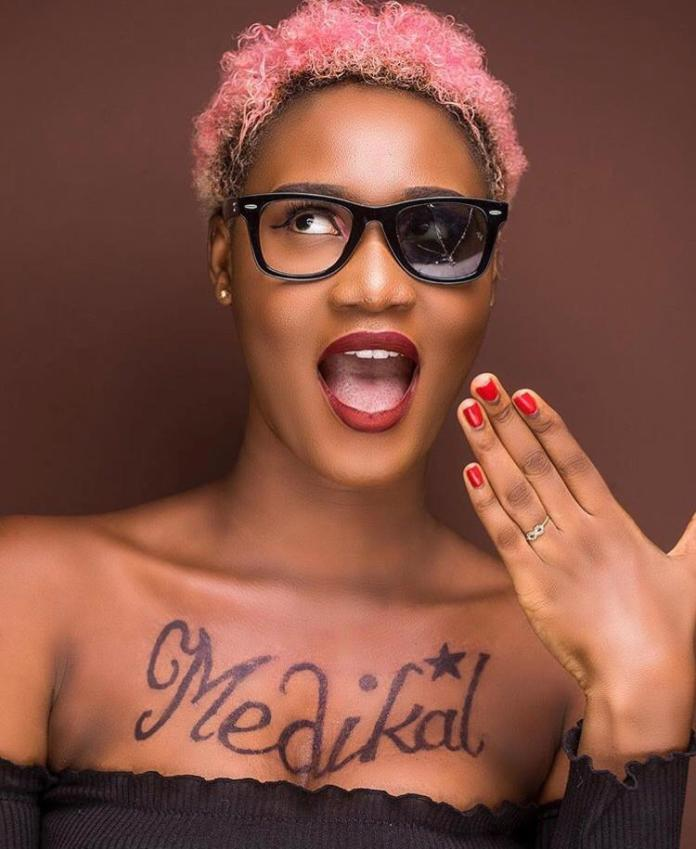 IMG 20190319 WA0000 - Petrah Wants To Snatch Fella From Fella Makafui? See Photos Of Her New Medikal Tattoo On Her Chest