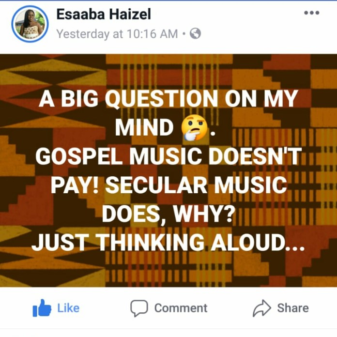"IMG 20190322 WA0000 - Doing gospel music is time wasting, it doesn't really pay"" – Says gospel musician Esaaba Haizel"