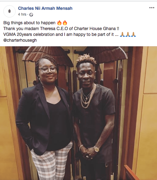 Screen Shot 2019 03 14 at 11.21.18 AM - Shatta Wale Reconciles With CEO Of Charter House, Mrs Theresa Ayoade After Putting Her On Blast In 2014