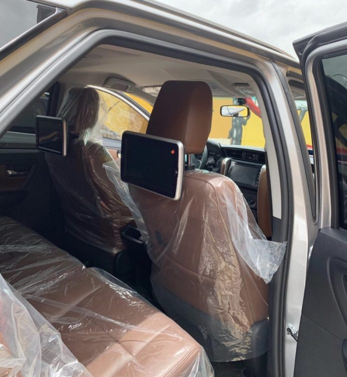 2B55C700 273C 4006 824E EA582FC8B312 943x1024 - Actress Tracey Boakye's Fiancé Surprises Her With A Brand New 2019 Toyota Fortuner As Easter Gift (+ Photos)