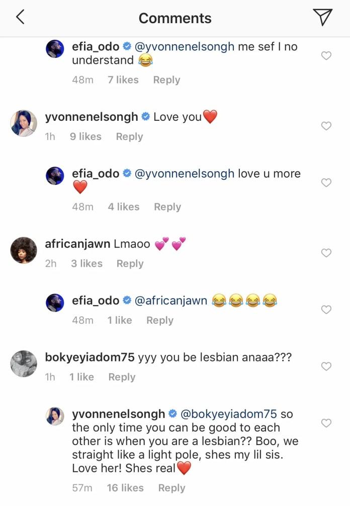 CC838A03 49AA 462E BA91 81CB8655EF20 - Yvonne Nelson Savagely Replies A Fan Who Says She Is Efia Odo's Lesbian Partner (+Screenshot)