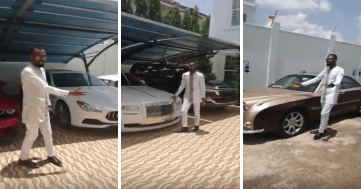 Rev Obofour Flaunts His 25 Luxurious Cars In His Plush Trasacco ...