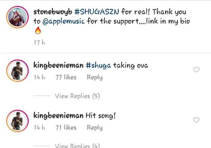shuga - 'Shuga Is A Hit Song, It's Taking Over'- Beenie Man Tells Stonebwoy