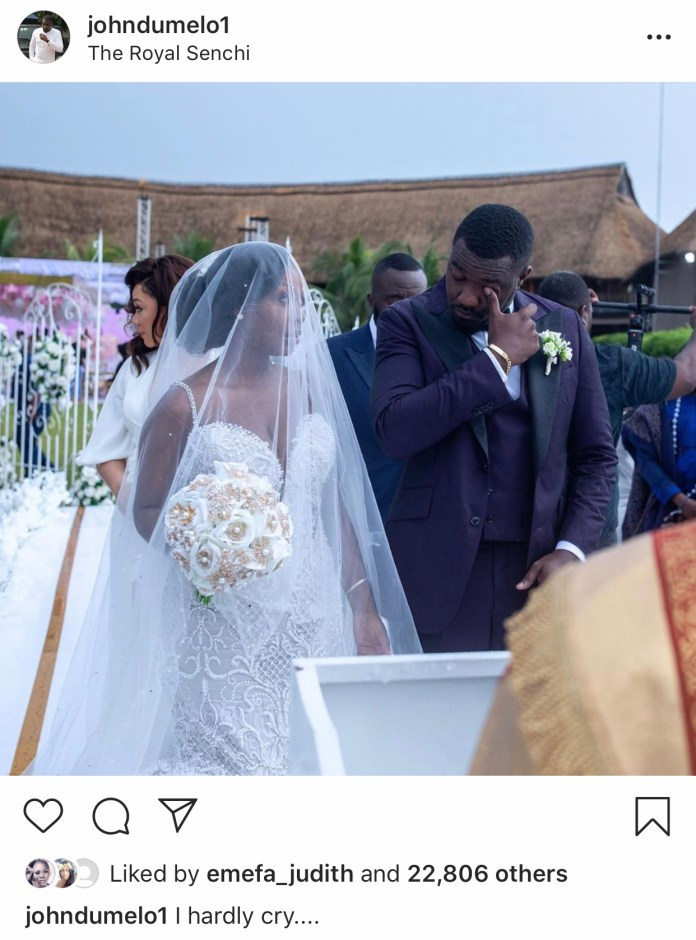 "91985970 F05D 4793 9ECA 5BD88B89041E - ""I Hardly Cry But I Did On My Wedding Day""- John Dumelo"