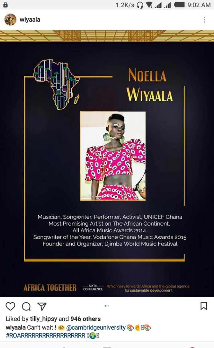 IMG 20190515 090412 466 - Wiyaala to speak at Cambridge University's Africa Togetherness Conference (+ Screenshots)