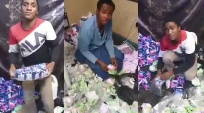 always sanitary pad - Men caught in Sanitary pad scam; seen packaging unknown sanitary pads into Always Ultra packs (Video)