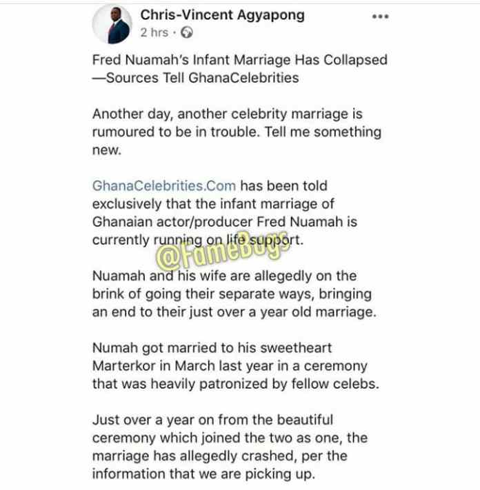 chris 2 - Storm In Paradise,Fred Nuamah's Marriage Reportedly On Life Support ( Screenshots)