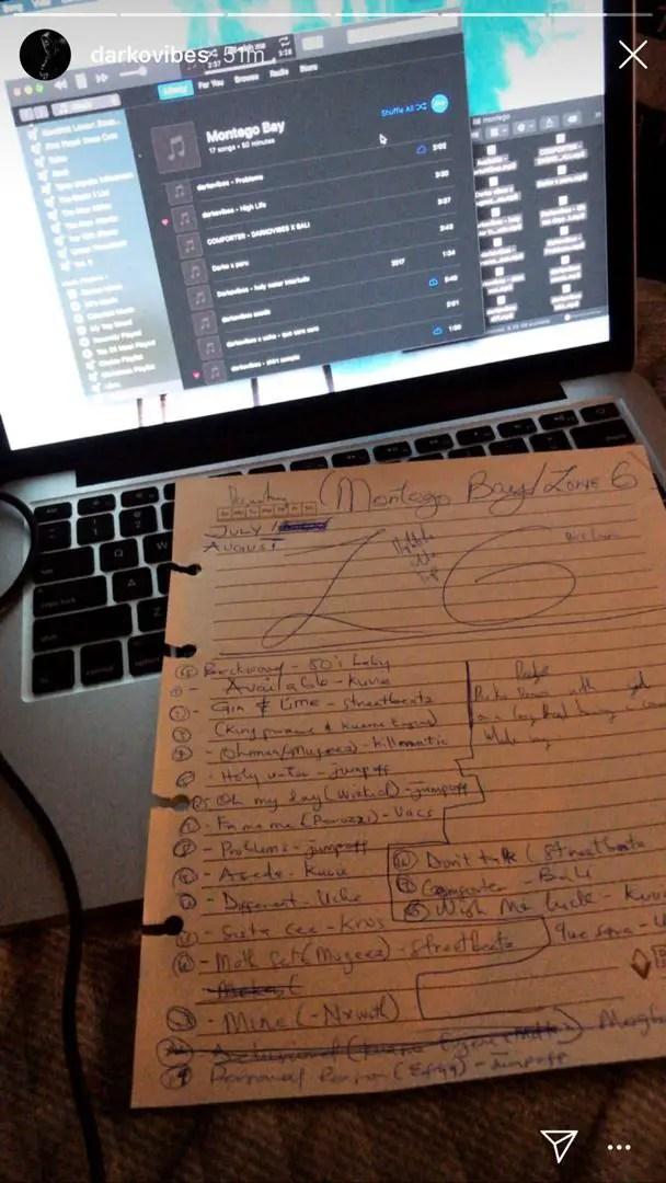 dark - Darko Vibes Debut Album Tracklist LEAKS- We Have It Here