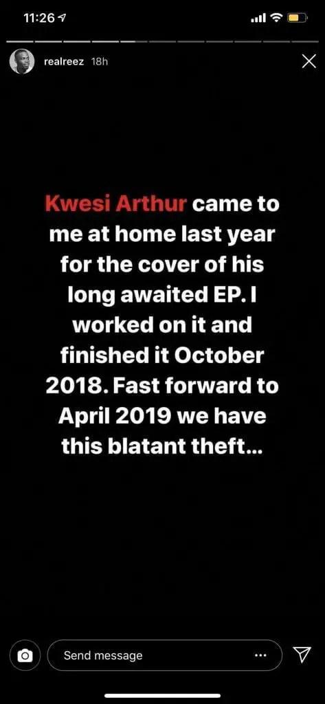 design - 'Kwesi Arthur Stole My Artwork For His New EP' – Graphic Designer