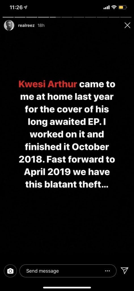design - 'Kwesi Arthur Stole My Artwork For His New EP' – Graphic Designer
