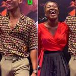 KiDi gets a boner after posing next to Fella Makafui on Tv (Photo)