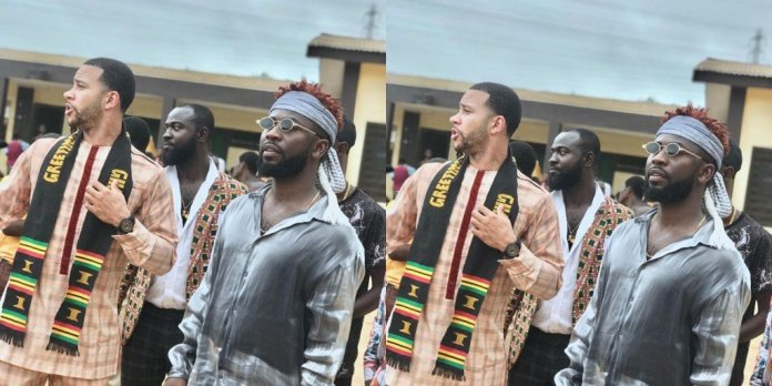 mem - Former Manchester United Player, Memphis Depay Visits Ghana For The Second Time & Goes To Cape Coast For Some Charitable Projects
