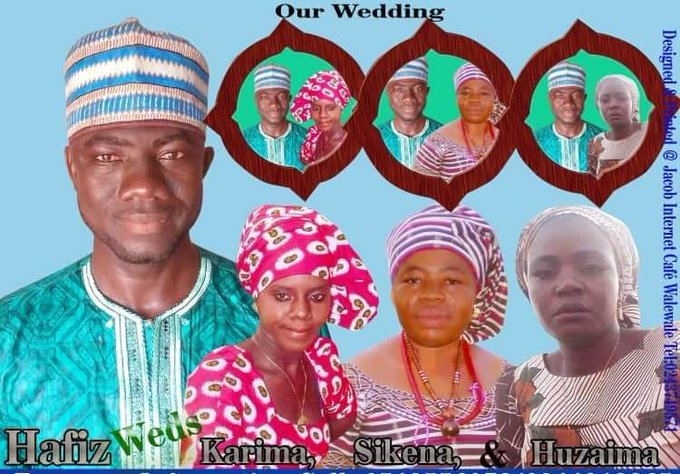Ghanaian Man Sets Record; Marries 3 Wives Same Day At The Same Time 3