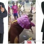Ghanaian street pastor wrestles mad woman for preventing him from taking offertory