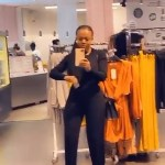 Nana Aba Anamoah Flaunts Her New iPhone 11 As She Boogies In A Boutique In London- WATCH