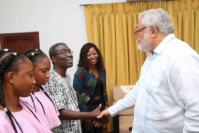 Siamese Twins Who Who Were Separated In 1999 After Former President Rawlings Paid The Bills Finally Meet Him-Photos