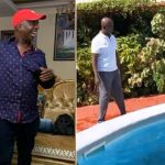 Regina Daniels' husband Ned Nwoko captured teaching Singer, Teni how to swim in his house