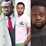 Massive Throw Back Photos Of Prince David Osei, Majid Michel And Eddie Nartey During The Shoot Of Agony Of Christ Movie