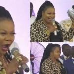 Okomfo Agradaa Visits Owusu Bempah's Church To Worship God, Gives ¢10k As Offertory- Watch
