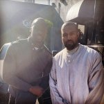Chris Attoh Hangs Out With Born Again Rapper Kanye West- Photo