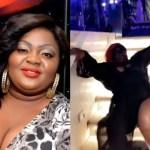 Plus-Sized Nigerian Actress Eniola Badmus Falls Down Whiles Slaying- Watch