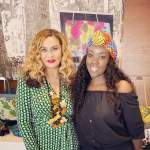 PHOTO: Beyonce's Mum Tina Knowles Visits Stonebwoy's Wife's African Bags And Accessories Shop