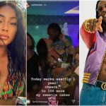 WATCH: Burna Boy And UK Girlfriend Stefflon Don Share Passionate Kiss To Mark One Year Since Dating