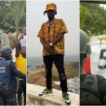 Ghanaians Mob Popcaan As He Steps Out Amid Tight Security (VIDEO)