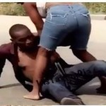 Slay Queen Beats Up Married Man Mercilessly In Public For Refusing To Pay Her After Chopping Her-WATCH