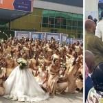 Nigerian Woman Known As Sandra Ikeji Storms Her Own Wedding With 200 Bridesmaids (+Photos)