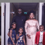 Mercy Johnson Shows Baby Bump For The First Time As She Poses With Family At Premiere of 'The Legend Of Inikpi'