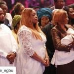 Nigerian Gospel Musician, Sinach & Husband Dedicate Daughter In Church- Photos