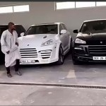 Watch The Hilarious Moment Funny Face Drove The New Car Adebayor Gifted Him Out Of His Compound