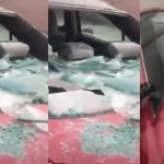 Lady Destroys Boyfriend's Car For Not Buying Her Valentine's Gift