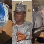 Nigerian Governor Storms School Unannounced Only To See The Bad Meal They Prepare For Students, Asks Headmaster & Staff To Eat Same Food- WATCH