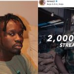 Mr Eazi complains of the amount he earned from a song with 10million streams