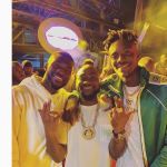 Davido Chills With Chelsea Players At Brother's Wedding