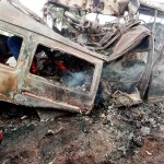 Gory Accident On Kintampo-Tamale Road, Over 20 People Burnt To Death Few Hours Ago