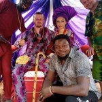 Photos: White Man Weds Nigerian Woman, Wears Slippers (Chalewote) At His Traditional Wedding