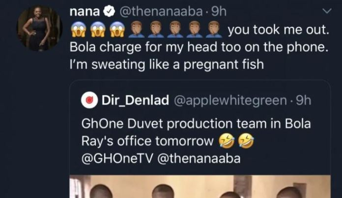 Nana Aba Anamoah in trouble as her boss Bola Ray fires her on Phone. 2