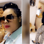 """Video: Nana Agradaa Shows Off Her Luxury Living Room Made With """"Gold"""""""