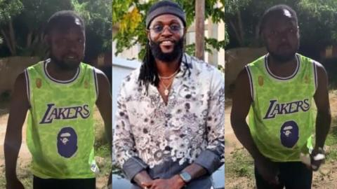 Funny Face Sends A Video To Adebayor Thanking Him For Following Him Back