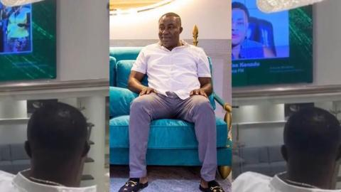 This Is A Rare Video Of Osei Kwame Despite In His Plush And Expensive Hall Watching His TV Station