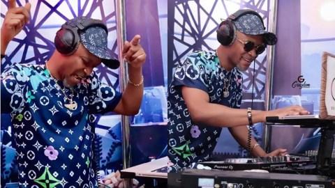 Fadda Dickson Poses Behind The Turntable And Displays Some 'Wild' DJ Skills (+photos)