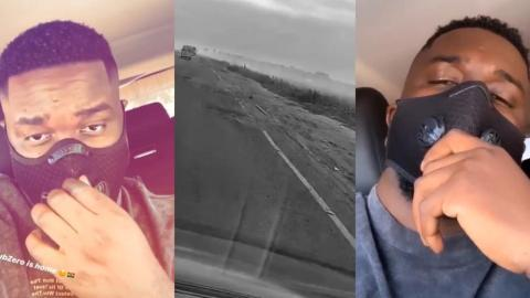 Sarkodie Finally Goes Home In Style After 14 Days Quarantine With A Sub Zero Swag – Video