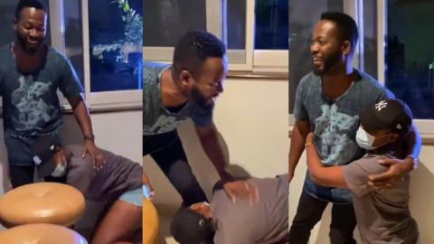 """Legend"" – Says Yvonne Nelson As She Kisses The Feet Of Adjetey Annan(Pusha) – Video"