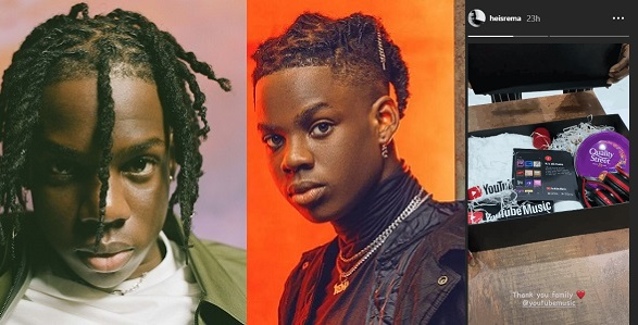 Singer Rema Gets Rewarded By YouTube After His Song 'Beamer' Clocks 10 Million Views
