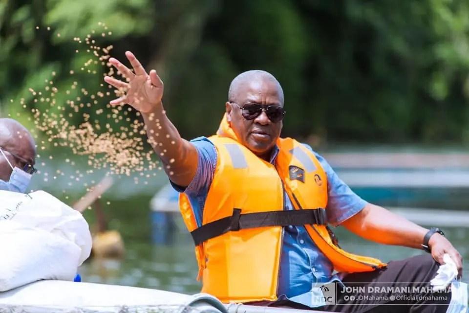 """Mahama shared face masks and not money"" – NDC clarifies"